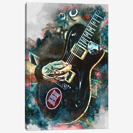 Mark Tremonti's Electric Guitar II Canvas Print #PCP96} by Pop Cult Posters Canvas Art Print