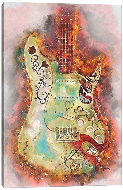 Hendrix's Monterey Guitar Canvas Art Print
