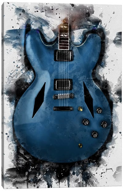 Dave Grohl's Electric Guitar Canvas Art Print
