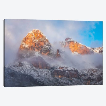 Superstition Winter In Color Canvas Print #PCS109} by Peter Coskun Canvas Wall Art