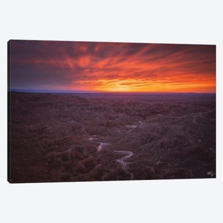 Burning Badlands Canvas Print #PCS14} by Peter Coskun Canvas Wall Art