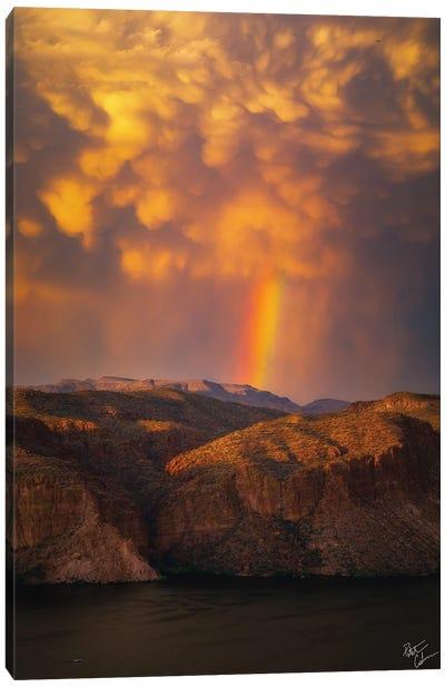 Canyon Lake Skies Canvas Art Print