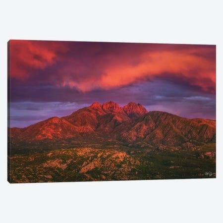 Fire Peaks Canvas Print #PCS47} by Peter Coskun Canvas Art Print