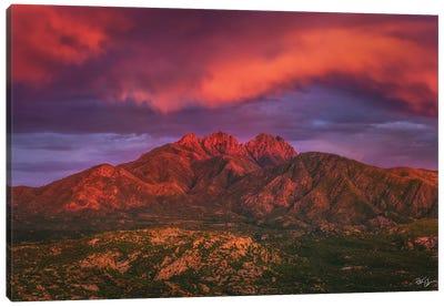 Fire Peaks Canvas Art Print