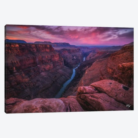 First Light Of The West Canvas Print #PCS50} by Peter Coskun Art Print