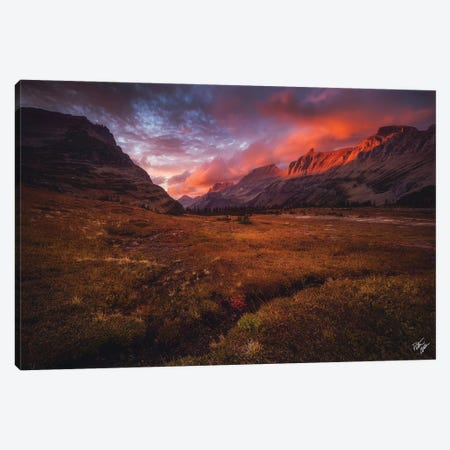 Going To The Sun Set Canvas Print #PCS56} by Peter Coskun Canvas Artwork