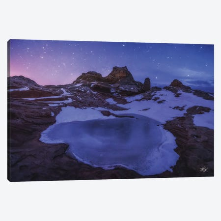 Mars On Ice Canvas Print #PCS67} by Peter Coskun Canvas Art Print