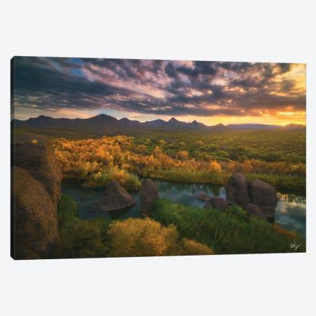 Needle Rock Sunrise Canvas Print #PCS77} by Peter Coskun Canvas Artwork