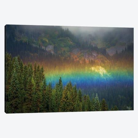 Rainier Rainbow Canvas Print #PCS88} by Peter Coskun Canvas Wall Art