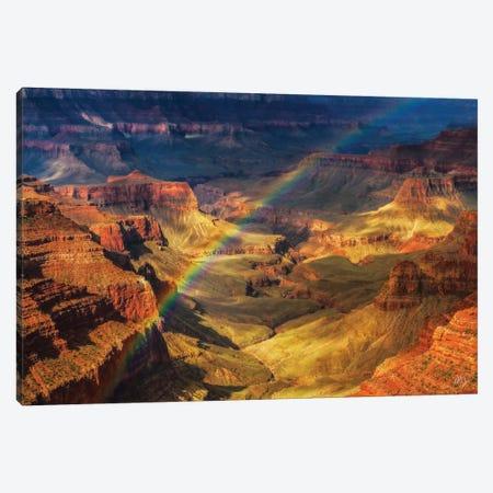 Royal Rainbow Canvas Print #PCS95} by Peter Coskun Canvas Wall Art