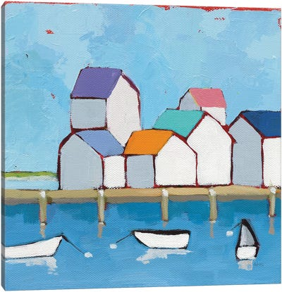 The Wharf Canvas Art Print