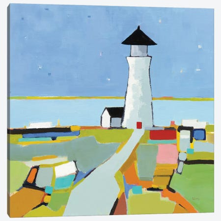To the Lighthouse Canvas Print #PDA6} by Phyllis Adams Canvas Artwork