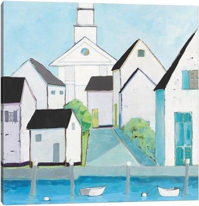 Harbor Town III No Sign Light Canvas Art Print