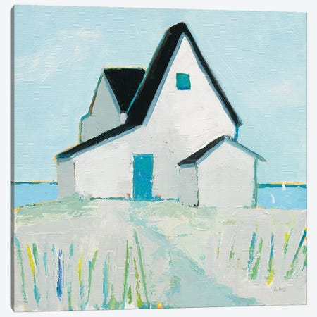 Cottage by the Sea Neutral Canvas Print #PDA8} by Phyllis Adams Canvas Art Print