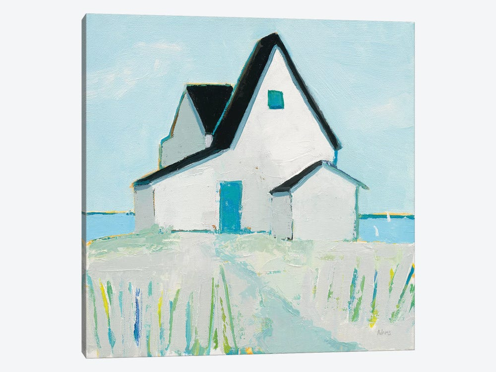 Cottage by the Sea Neutral by Phyllis Adams 1-piece Art Print