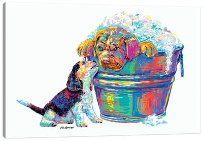 Couple Tub Canvas Art Print