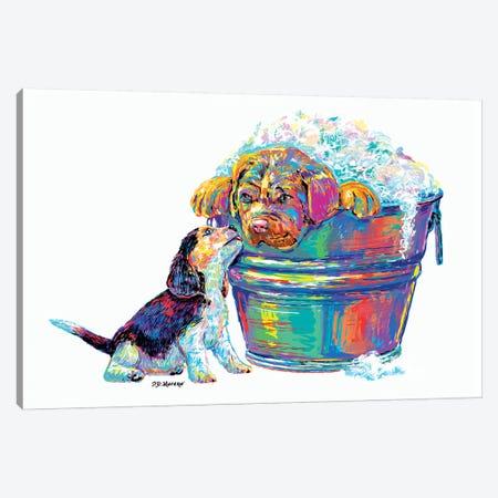 Couple Tub Canvas Print #PDM107} by P.D. Moreno Canvas Art Print