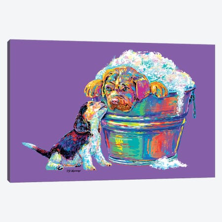 Couple Tub In Purple Canvas Print #PDM110} by P.D. Moreno Canvas Art Print