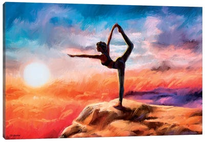 Mountain Yoga Canvas Art Print