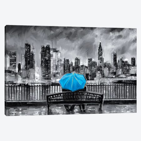 NY In Love In Blue Canvas Print #PDM118} by P.D. Moreno Canvas Print