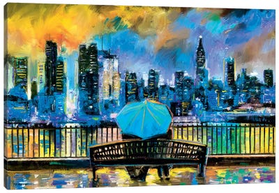 NY In Love In Color Canvas Art Print