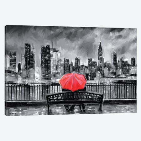 NY In Love In Red Canvas Print #PDM121} by P.D. Moreno Canvas Art
