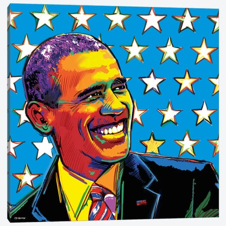 Obama Canvas Print #PDM122} by P.D. Moreno Canvas Artwork