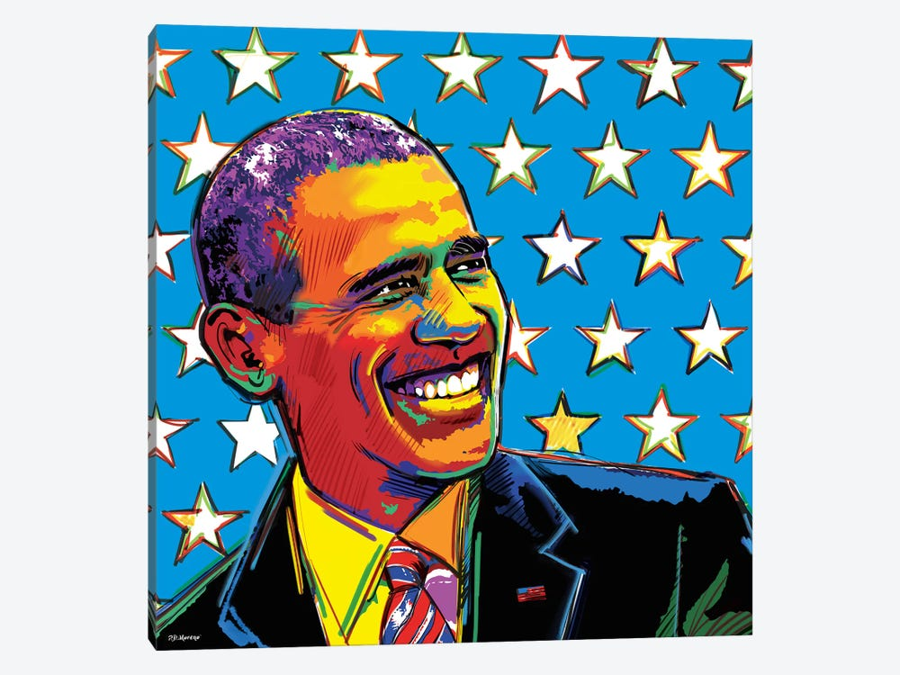 Obama by P.D. Moreno 1-piece Canvas Art Print