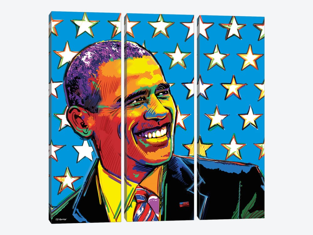 Obama by P.D. Moreno 3-piece Art Print