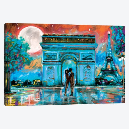 Paris In Love Canvas Print #PDM123} by P.D. Moreno Canvas Artwork