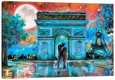 Paris In Love Canvas Art Print