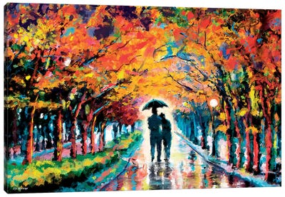 Park In Love Canvas Art Print