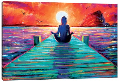 Sea Yoga Canvas Art Print