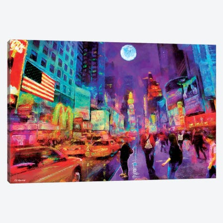Times Square In Color Canvas Print #PDM127} by P.D. Moreno Canvas Art Print