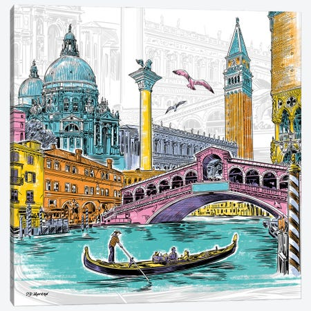 Venice Canvas Print #PDM130} by P.D. Moreno Canvas Art Print