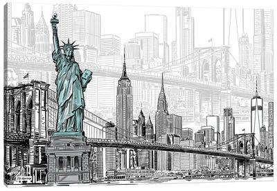 New York Sketches Canvas Art Print