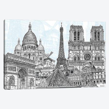 Paris Sketches Canvas Print #PDM135} by P.D. Moreno Canvas Artwork