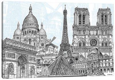 Paris Sketches Canvas Art Print