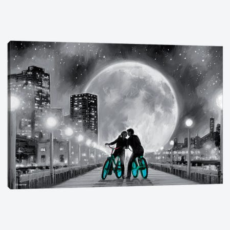 Moon Bicycle Canvas Print #PDM140} by P.D. Moreno Canvas Artwork