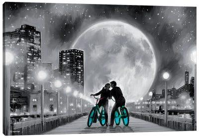 Moon Bicycle Canvas Art Print