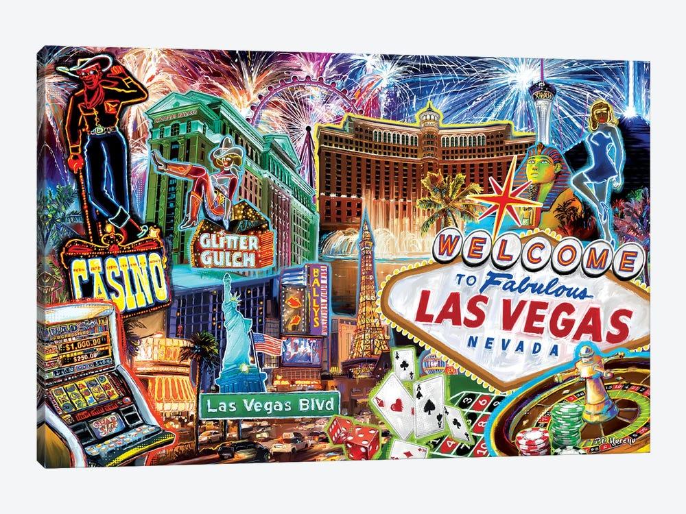 Las Vegas Pop Art by P.D. Moreno 1-piece Canvas Artwork