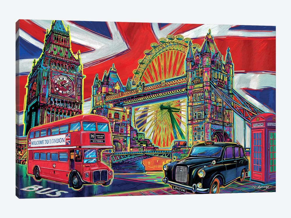 London Pop Art by P.D. Moreno 1-piece Canvas Print
