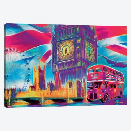 London Pop Colors Canvas Print #PDM34} by P.D. Moreno Canvas Print