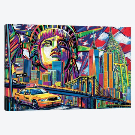 NY Pop Art Canvas Print #PDM36} by P.D. Moreno Canvas Print