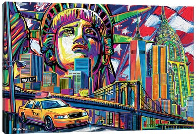 NY Pop Art Canvas Art Print