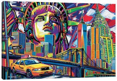 NY Pop Art Canvas Art Print