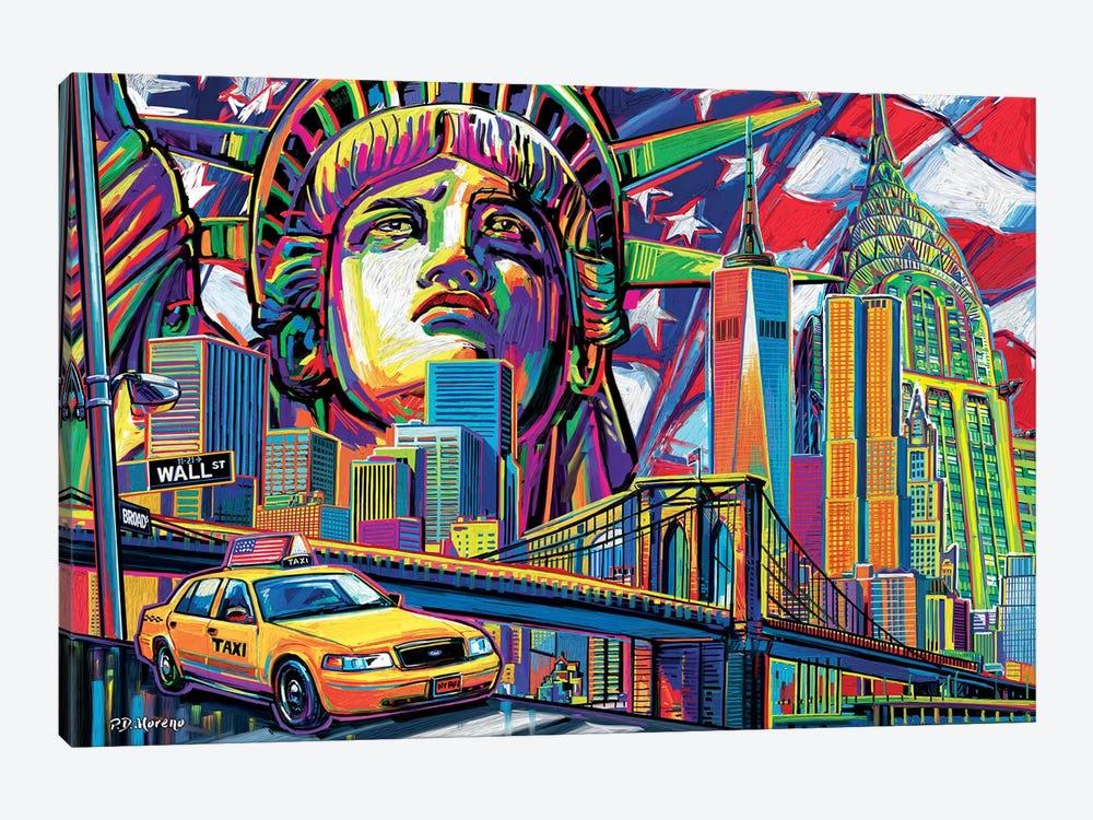 NY Pop Art by P.D. Moreno 1-piece Canvas Wall Art