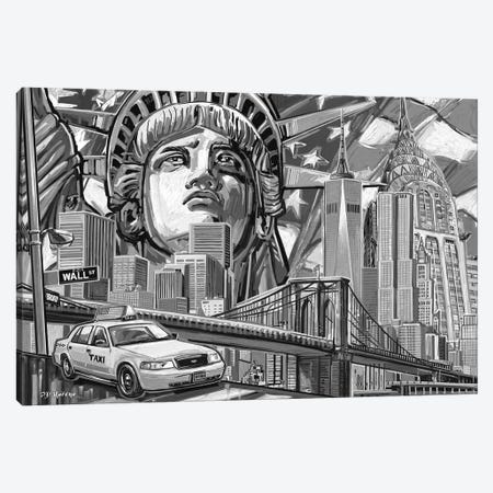 NY Pop Art Black & White II Canvas Print #PDM38} by P.D. Moreno Canvas Artwork