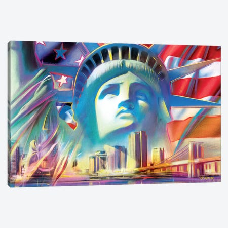 NY Pop Colors Canvas Print #PDM39} by P.D. Moreno Canvas Art