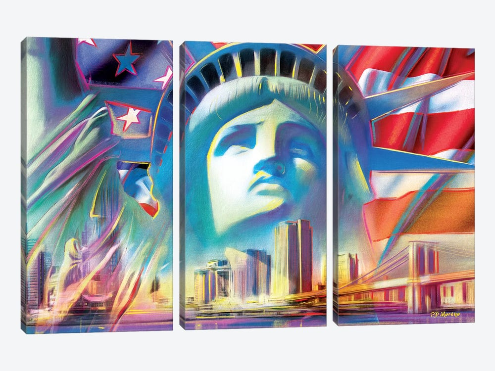 NY Pop Colors by P.D. Moreno 3-piece Art Print